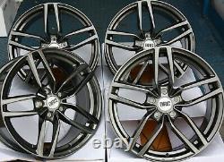 18 Gm Drc Drs Wheels Alloy For 5x98 Alfa Romeo 147 156 164 Gt Fiat 500l