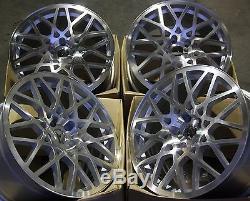 18 Silver Rt-i Alloy Wheels 5x98 Alfa Romeo 147 156 164 Gt Fiat 500l