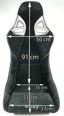 2 Seats Sport Coal Leather Porsche 997 Gt3 Gt2 996 911