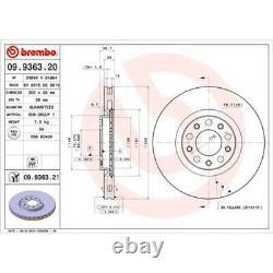 2 X Brembo Brake Disc (09.9363.21)