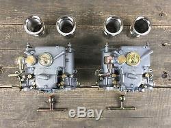 2x 40 Dcoe Carburetor Double With Funnel Arrival Bmw Fiat Alfa Romeo