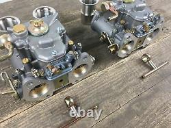 2x 40 Dcoe Double Carburetor With Arrival Funnel Bmw Fiat Alfa Romeo