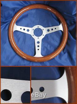 Alfa Romeo Duetto Fiat 124 Lancia Fulvia- Sports Wooden Steering Wheel