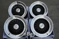 Alloy Wheels X4 18 Vintage Black For 5x98 Alfa Romeo 147 156 164 Gt Fiat