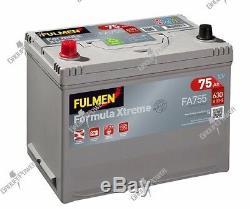Battery 12v 75ah 630a Fulmen Fa755 Ditto Varta E23