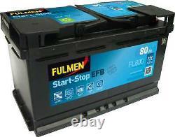 Battery Fulmen Start-stop Efb 80ah/720a (fl800)