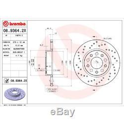 Brake Disc (2 Piece) Brembo Xtra Line Brembo 08.9364.2x