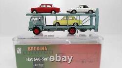 Brekina Gdpk95843ar Fiat 642 Truck Transporter With 3 Cars Alfa Romeo Ho 1