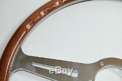 Classic Sport Steering Wooden Montecarlo Luisi 360mm Mahogany Made In Italy