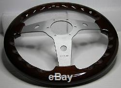Classic Sport Wooden Steering Wheel 310mm 12.3 Luisi Mahogany Made Italy