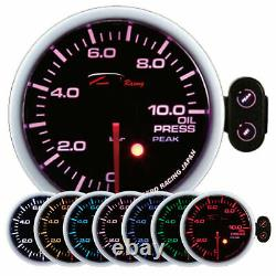 D Racing 60mm Oil Pressure Show Instrument Oil Attention Pic Calibre