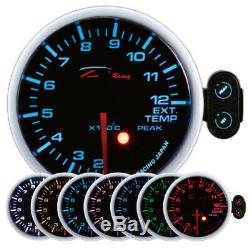 D Racing 60mm Temperature Of Exhaust Gas Warning Instrument Show