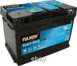 Fulmen Battery Start-stop Efb 70ah / 630a (fl700)