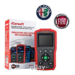 Icarsoft Fa Suitcase Diag V1.0 Pro Obd2 Fiat + Alfa Romeo Multidiag