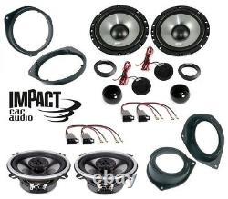 Impact Set 6 Speaker 165mm-13cm Punto 500 Panda Qubo Fiorino Mito Brkt / Pr