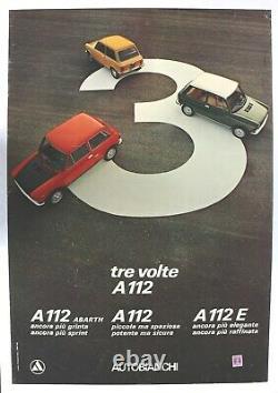 Original Autobianchi A112 Abarth Garage Fiat Lancia Alfa Romeo