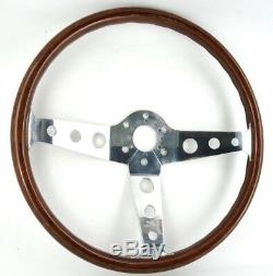 Original Peretti 390mm Contour Wooden Steering Wheel Beautiful! Alfa Romeo Fiat. 7th