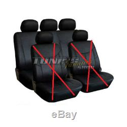 Premium Leather / Faux Seat Cover Rear Seat Black Kit Several