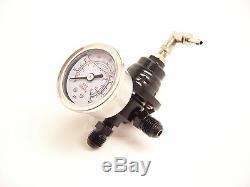 Rsr Fuel Pressure Regulators Adjustable Black + Mano G60 G40 Vr6 16v Turbo