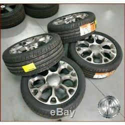 Set Fiat Original Alloy Wheels + Summer Tires 225 45 17 For 500l