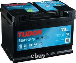 Tudor Start-stop Agm 70ah/760a Battery (tk700)