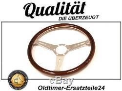 Wooden Wheel For Fiat Alfa Romeo Lancia Porsche And Vw Old Car