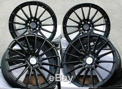 16 Noir Force 5 Roues Alliage pour 5X98 Alfa Romeo 147 156 164 Gt Fiat 500L