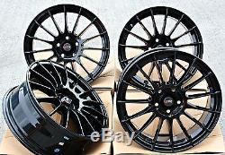17 DTD DG1 GB Roues alliage noir brillant multi Rayon 17 pouce pour 5X98