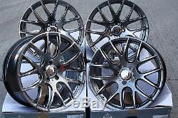 18 Hb Cs Treillis Roues Alliage pour Alfa 159 Cadilac BLS Fiat Croma Saab 9-3