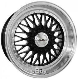 18 Vintage Noire Roues Alliage pour Alfa Romeo Jeep Cherokee Saab 9-3 9-5