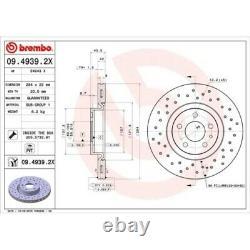 2 Disque de frein BREMBO 09.4939.2X BREMBO XTRA LINE convient à ALFA ROMEO FIAT