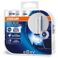2 x D1S NEUF OSRAM Xenarc COOL BLUE INTENSE 6000K Xenon AMPOULE LAMP TWIN
