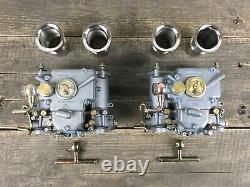 2x 40 Dcoe Carburateur Double Avec Entonnoir D'Arrivée BMW Fiat Alfa Romeo