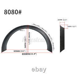 4PCS Polyuréthane Flexible Universel Voiture FENDER Roue Arches Fusées 8080+8080