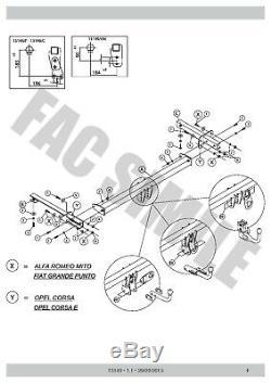 Attelage Col de Cygne+7b relais pour Fiat Punto Evo Hayon 2011+ 13149/F A6