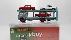 BREKINA PIBK95843ar2 Fiat 642 Camion Transporter Avec 3 Voitures Alfa Romeo Ho 1