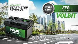 Batterie Démarrage VOLBIT Start&stop Efb 70AH Ampère 650A Fr 275 x 175 X 190 MM