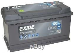 Batterie Exide EA1000 12v 100ah 900A 353x175x190mm varta G3 H3