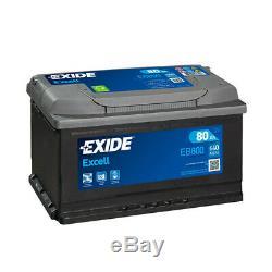 Batterie Exide EB800 12v 80AH 640A
