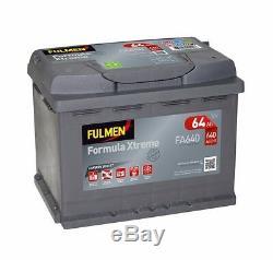 Batterie Fulmen FA640 12v 64ah 640A 12v 60ah D15 D24 YBX garantie 2 ans