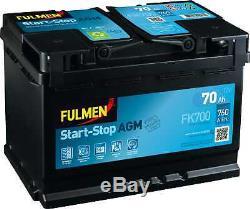 Batterie Fulmen Start-Stop AGM 70Ah/760A (FK700)