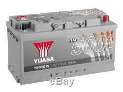 Batterie auto, voiture Yuasa YBX5019 12V 100Ah 900A 353x175x190mm H3 G3