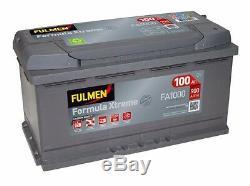 Batterie démarrage voiture Fulmen FA1000 12v 100ah 900A 353x175x190mm