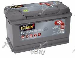 Batterie démarrage voiture Fulmen FA900 12v 90ah 720A 315x175x190mm