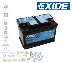 Batterie pour Voiture Exide AGM 70 Ah Ampère 760 Fr 12 Volt Start & Stop EK700