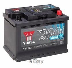 Batterie voiture Yuasa AGM Start Stop YBX9027 12V 60Ah 680A 242x175x190mm D52