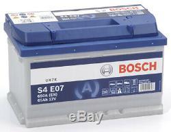 Bosch S4E07 Batterie de Voiture 65A/h-650A
