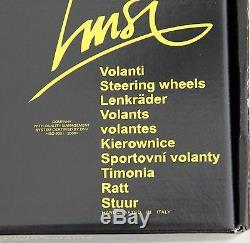 Classique Sport Volant en Bois 370mm Luisi Mugello II Acajou Fabriqué en Italie