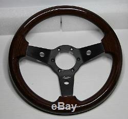 Classique sport vintage volant en bois 310mm LUISI Noir IMOLA acajou