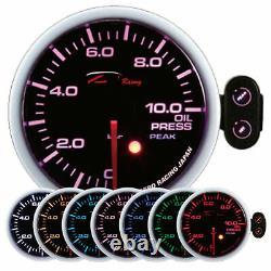 D racing 60mm Pression D'Huile Afficher Instrument Huile Attention Pic Calibre